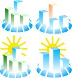 установленные логосы здания Стоковые Фото