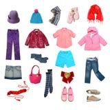 установленные малыши одежд Стоковые Изображения