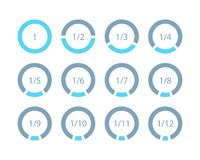 Установленные математически части частей шаблона кольца для infographi