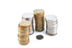 установленные монетки стоковые изображения