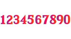 Установленные номера градиента бесплатная иллюстрация