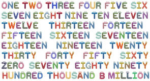 установленные номера детей Стоковые Изображения RF