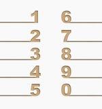 Установленные номера, рециркулируют принципиальную схему Стоковое Изображение RF