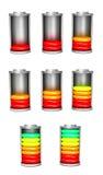 Установленные обязанности батареи иллюстрация вектора