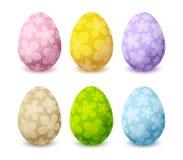 установленные пасхальные яйца цвета Стоковые Изображения