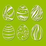 установленные пасхальные яйца Стоковое Фото