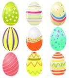 установленные пасхальные яйца Стоковая Фотография RF