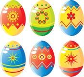 установленные пасхальные яйца Стоковая Фотография