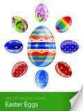 установленные пасхальные яйца Стоковые Фотографии RF