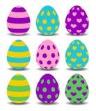установленные пасхальные яйца colorfull Стоковые Изображения