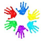 установленные печати руки цветов различные Стоковое Изображение RF