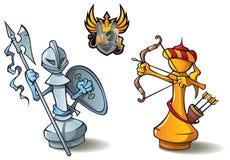 установленные пешки шахмат Стоковое Изображение RF