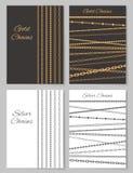 Установленные плакаты цепей золота и серебра выдвиженческие Стоковые Изображения RF