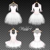 Установленные платья свадьбы иллюстрация штока