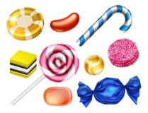 Установленные помадки конфеты иллюстрация вектора