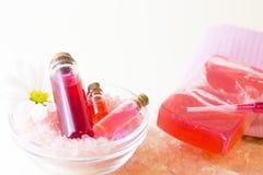 Установленные предметы первой необходимости ароматерапии Стоковое Фото