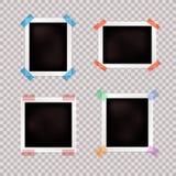 Установленные рамки, различные границы фото вектора винтажные размеров на прозрачной предпосылке бесплатная иллюстрация