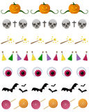 Установленные рассекатели Halloween иллюстрация вектора