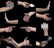 установленные руки жестов перстов Стоковые Фотографии RF