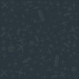 Установленные самолеты картины воздуха и неба вектора Стоковая Фотография RF