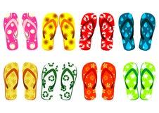 установленные сандалии пляжа Стоковая Фотография RF