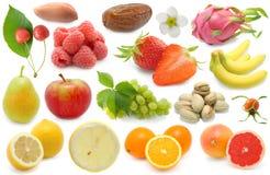 установленные свежие фрукты стоковое изображение rf