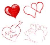 установленные сердца Стоковые Фото