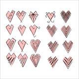 Установленные сердца Стоковое фото RF