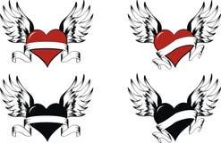 установленные сердца Стоковая Фотография RF