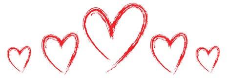 установленные сердца иллюстрация штока