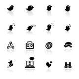 установленные сети иконы социальными Стоковое Изображение RF