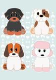 установленные собаки Стоковое Изображение