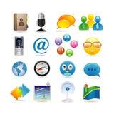 установленные средства иконы социальными Стоковое фото RF