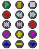 установленные средства кнопки иллюстрация вектора