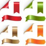установленные тесемки цвета Стоковое Изображение RF