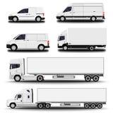 Установленные транспортные машины иллюстрация вектора