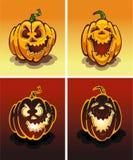 установленные тыквы ночи halloween дня Иллюстрация штока