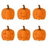установленные тыквы halloween Стоковое Фото