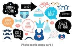 Установленные упорки photobooth будочки фото детского душа бесплатная иллюстрация
