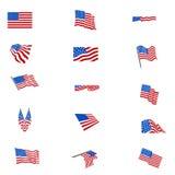 установленные флаги американского флага Стоковая Фотография RF
