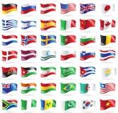 установленные флаги Стоковое Изображение RF