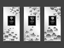 Установленные шаблоны для пакета от роскошной предпосылки сделанной геометрическим серебром форм иллюстрация штока