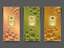 Установленные шаблоны для пакета от роскошной предпосылки сделанной геометрическими формами красочной иллюстрация штока