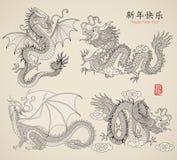 установленные драконы Стоковая Фотография RF