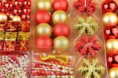 Установленные baubles рождества Стоковые Фото