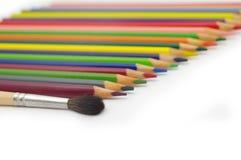 установленные crayons Стоковое Фото