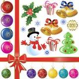 установленные cristmas бесплатная иллюстрация