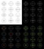 установленные crosshairs Стоковые Изображения RF