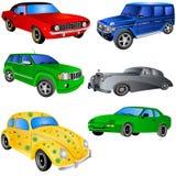 установленные ikons автомобиля Стоковое фото RF