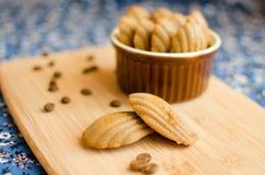 Установленные madeleines Coffeee Стоковое Фото